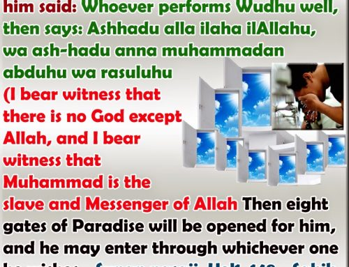 Importance of Ablution ( Wudhu)