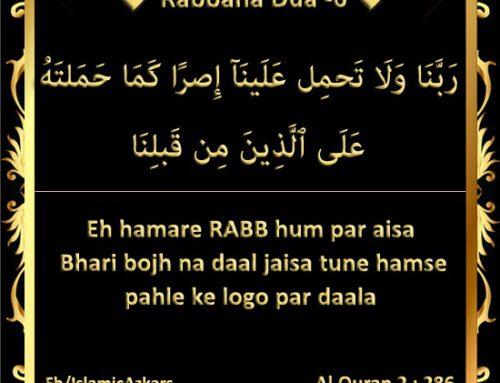 Rabbana Dua -6