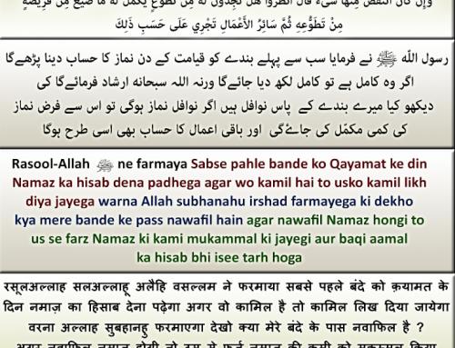Qayamat ke din Farz namaz agar puri nahi hongi to iski kami Nawafil Namazo se ki jayegi
