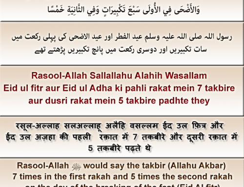 Eid ki Namaz ka Tareeqa